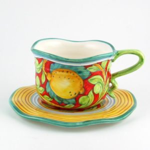 Pompei cup and saucer by Ceramiche Ima