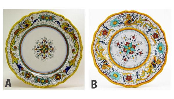 Deruta ceramics - Raffaellesco
