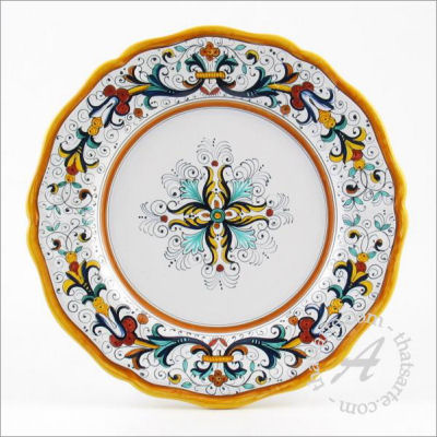 Italian dinnerware plate - Ricco Deruta classico by Fima (Deruta)  sc 1 st  Italian Ceramics & What are the most popular Italian Dinnerware patterns? - thatsArte ...