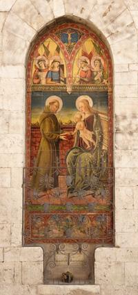 Italian ceramics - Porta del Morto (The deceased's door) by Alfredo Santarelli - Photo credits: www.gualdo.tadino.it