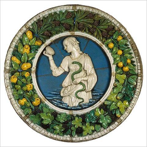 Italian Ceramics - Prudence by Andrea Della Robbia (ca. 1475) - Photo credits: The Metropolitan Museum of Art