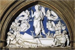 Italian Ceramics - The Resurrection by Luca Della Robbia (1442-45), Duomo, Florence - Photo credits: Web Gallery of Art