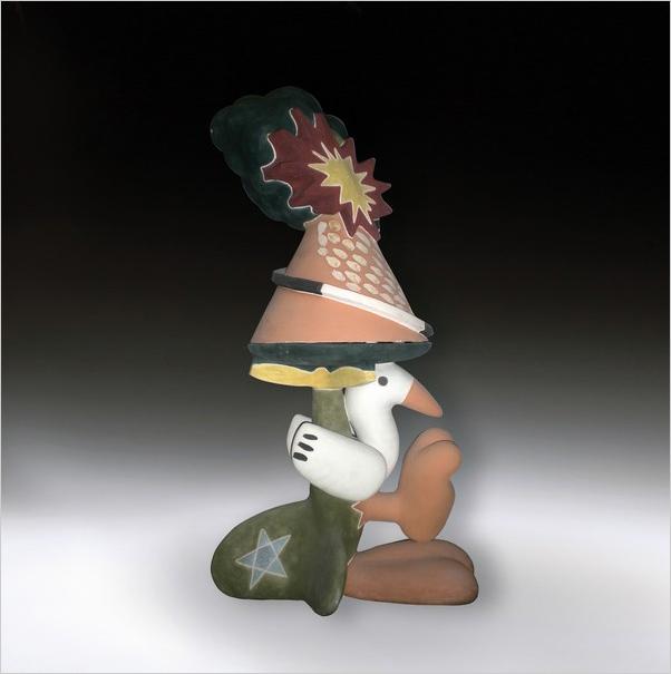 Italian Pottery - Italian ceramic exhibition 2010 - Work by Attilio Antibo - Photo credits: www.comune.castellamonte.to.it