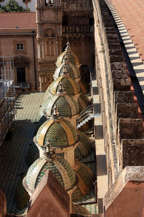 Ceramic domes on Palermo Cathedral