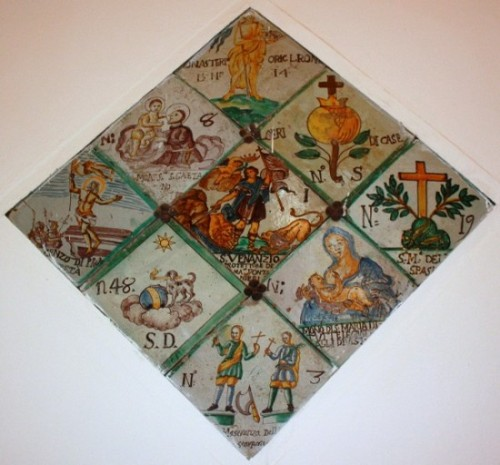 A Sicilian tile panel from the Cathedral in Palermo