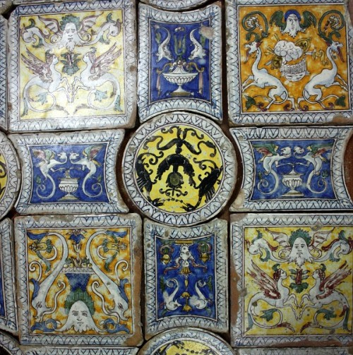 Antique Sicilian floor tiles