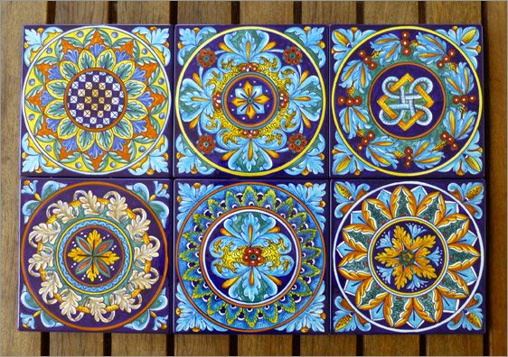 Eugenio Ricciarelli - hand painted Italian tiles