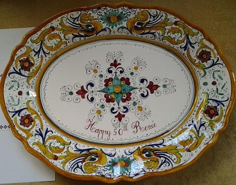 Raffaellesco Platter by Fima Deruta