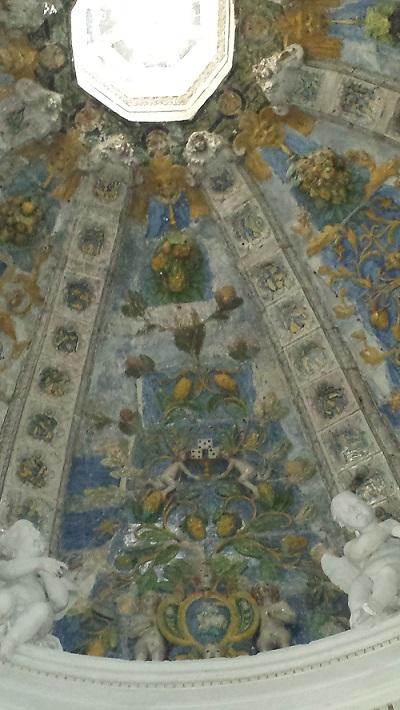 Santi Buglioni terracotta dome - St Frances Church in Bevagna