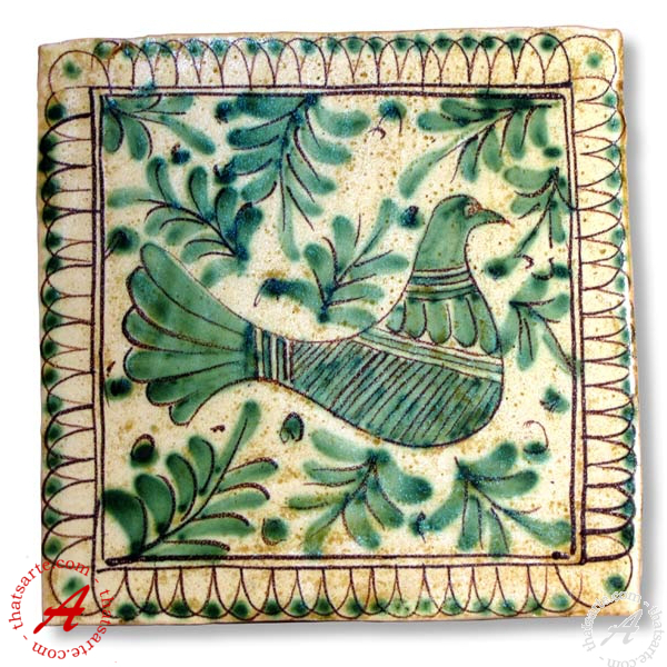 Italian hand painted tile from Alessi's Medieval collection